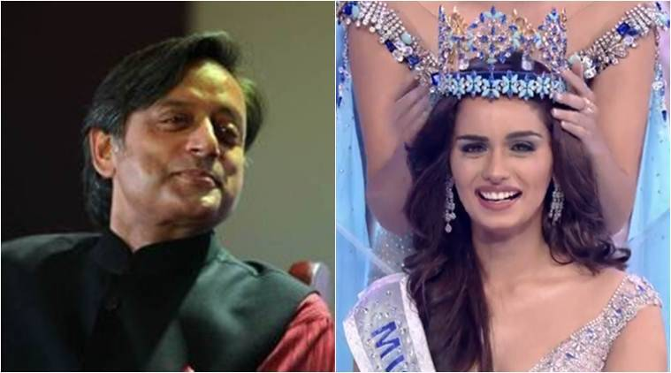 Miss World Manushi Chhillar, Shashi Tharoor on Manushi Chhillar, Shashi Tharoor tweet on Chillar, Tharoor on demonetisation, NCW,