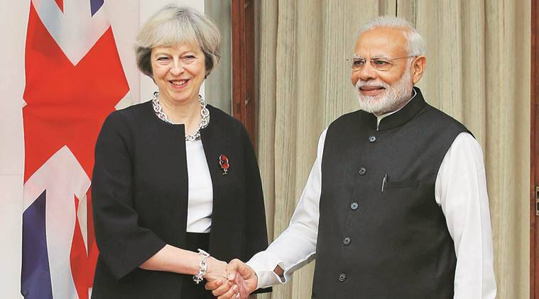 narendra modi, theresa may, Commonwealth Summit London, Queen Elizabeth, prince charles in india, pm modi