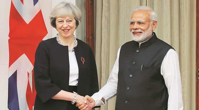 narendra modi, theresa may, Commonwealth Summit London, Queen Elizabeth, prince charles in india, pm modi