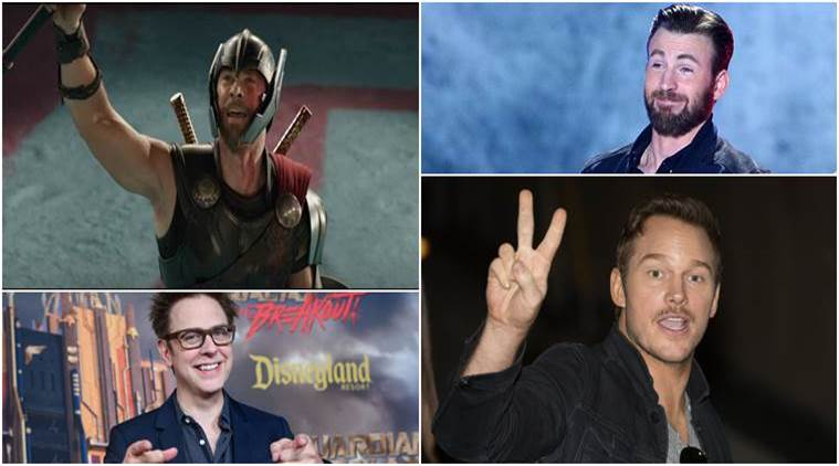 Chris Hemsworth, Chris Pratt, James Gunn, Chris Evans, Thor Ragnarok