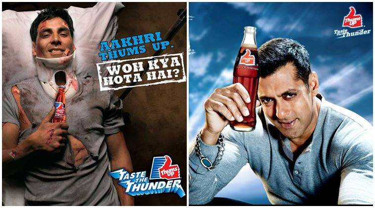 thums up, 40 years of thums up, thums up salman khan, thums up akshay kumar, acoca cola, thums up turns 40, coca cola beverage brand, coca cola beverage brands, indian express, indian express news