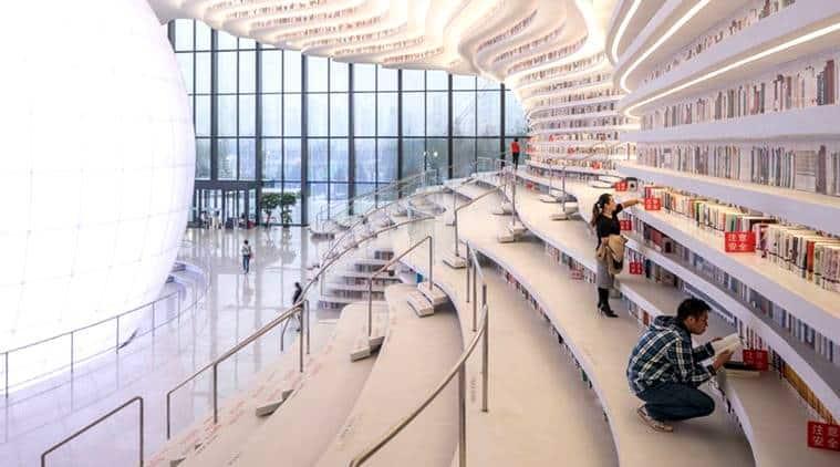 Tianjin Binhai Library, eye shaped library