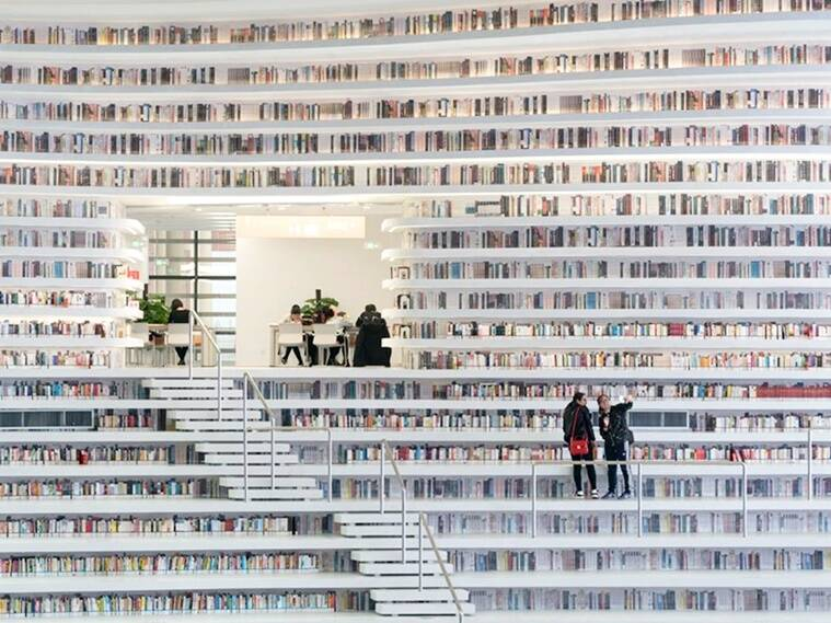 Tianjin Binhai Library, eye shaped library, china library