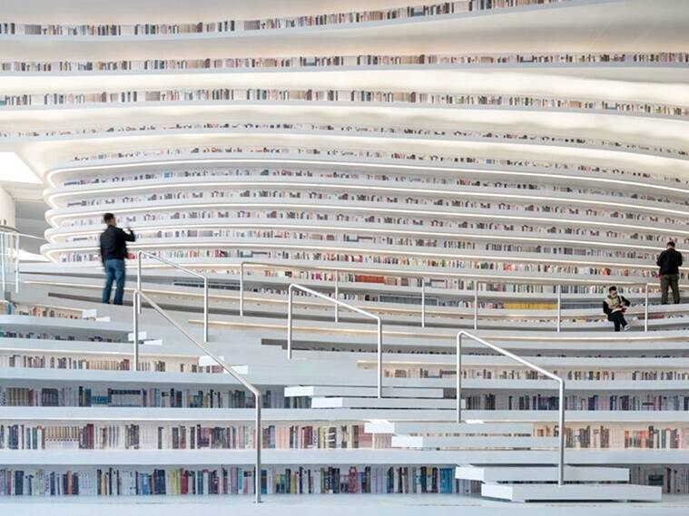 Tianjin Binhai Library, eye shaped library, china library