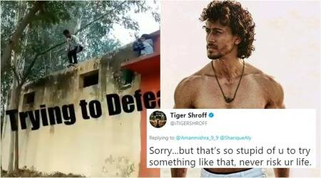 Fan apologises to Tiger Shroff after he scolds him on Twitter for jumping off '13 feet high' wall