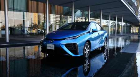 Toyota, hydrogen fuel cell cars, electric cars, hydrogen charging stations, electric vehicles, Toyota Mirai, fuel-cell vehicles, Nissan Leaf, Honda, Hyundai, Volkswagen, Tesla Roadster, Elon Musk, Tokyo Motor Show, hybrid vehicles
