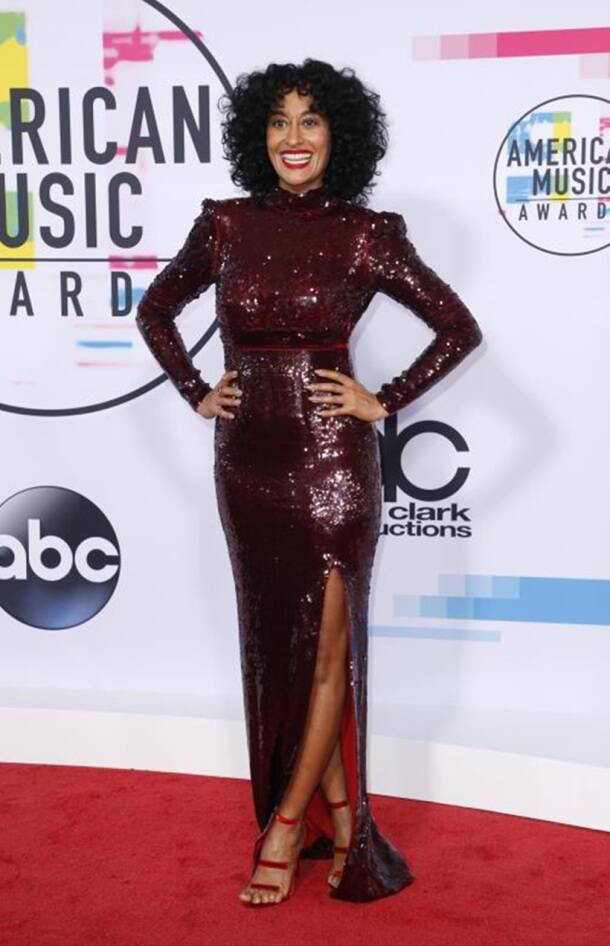 Demi Lovato, Selena Gomez, Heidi Klum, Lily Singh, American Music Awards 2017 Red Carpet, AMA, celeb fashion, Indian express, Indian express news