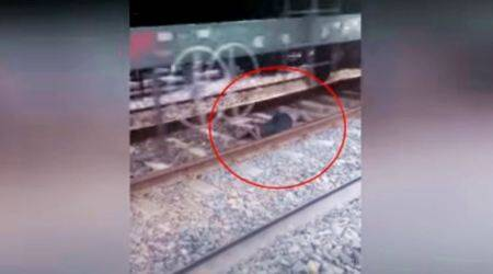 VIDEO: A train runs over a man in UP, but he has a miraculous escape