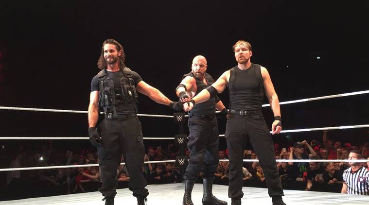 triple h, the shield, seth rollins triple h. wwe live, wwe news, sports news, indian express