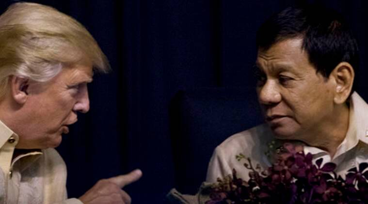 donald trump news, rodrigo duterte news, world news, indian express news