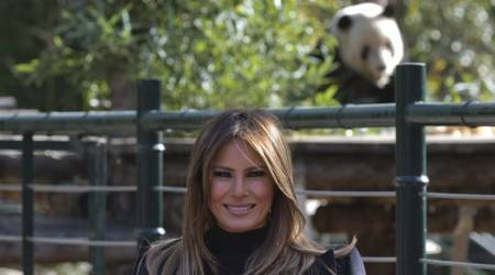 US First Lady Melania Trump meets China's furry diplomats, hikes Great Wall