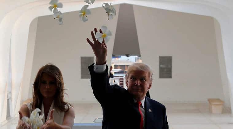 donald trump, uss arizona, memorial, melania trump, us president, hawaii, world war 2 memorial, pearl harbour