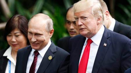Donald Trump lands in Helsinki for summit with Putin, slams media for criticising his Russian policy