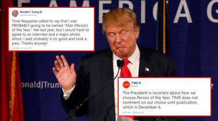 Donald Trump says he was PROBABLY going to be Person of the Year; Netizens troll himagain