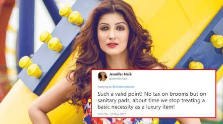 Twinkle Khanna's 'No GST' stand on sanitary pads gets Twitterati talking