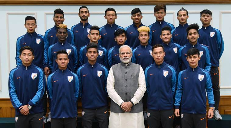 PM Narendra Modi meets India under-17 Football World Cup team