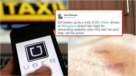 20+ Uber drivers BEAT UP this Bengaluru man for demanding SEAT BELTS; Twitterati get furious