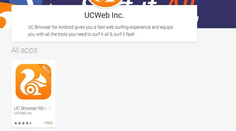 UC Browser vanishes from Google Play Store in India