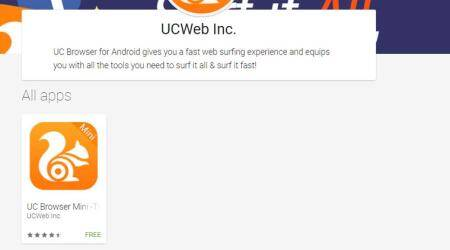 UCWeb browser taken down from Google Play Store