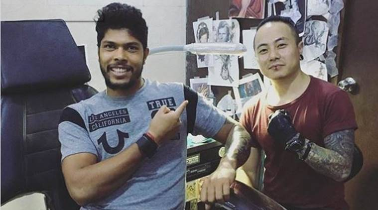umesh yadav, umesh, umesh yadav tattoo, cricket, sports news, indian express