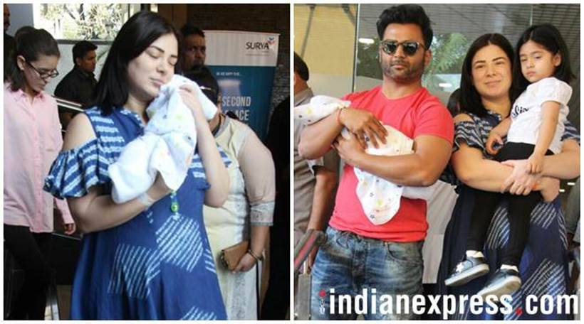 Urvashi Sharma Sachiin Joshi baby boy first photos