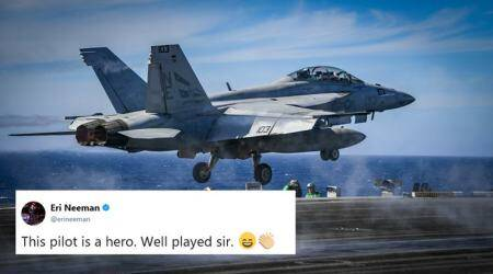 Obscene air stunt: US navy pilots draw male genitalia in the sky, Tweeple can't stop LOL-ing