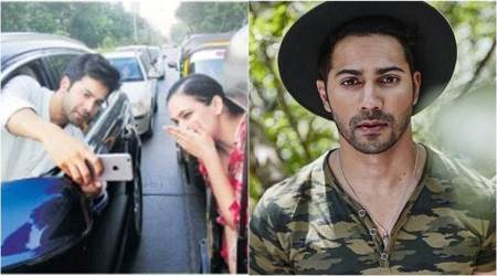 Varun Dhawan took a selfie on the street but ended up with a challan