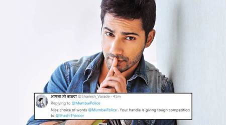 Mumbai Police's reply to Varun Dhawan's apology wins over people on social media