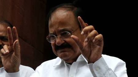 Venkaiah Naidu sees red over placards in Rajya Sabha, says this is not bazaar