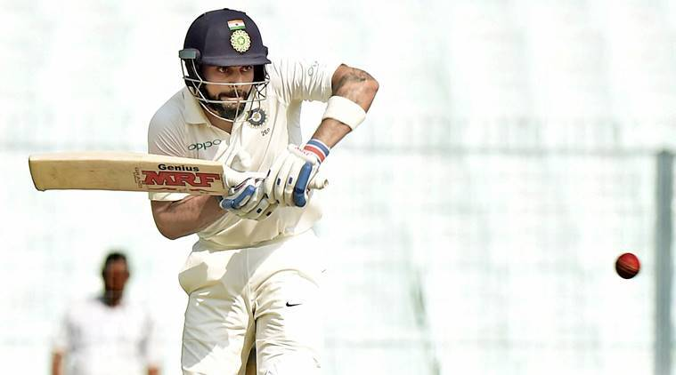 Virat Kohli, indian national cricket team, sri lankan national cricket team, Test, Eden Gardens, kolkata, indian express