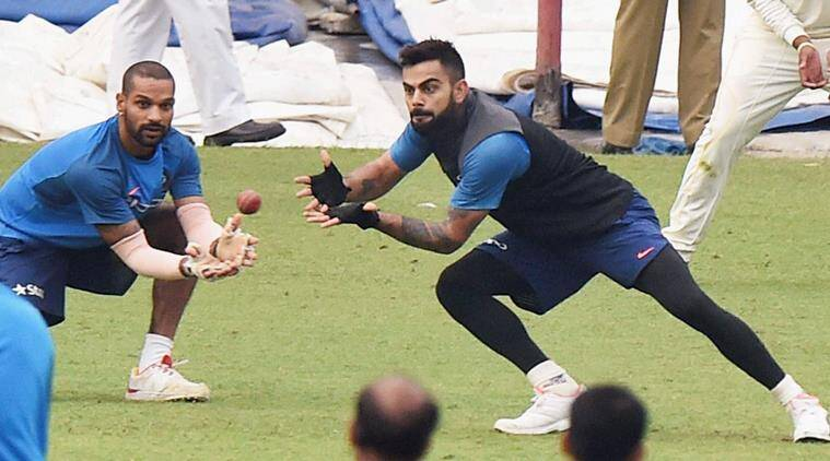 India captain Virat Kohli during a practice session
