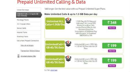 Vodafone Rs 199 recharge offer: This prepaid plan gives unlimited calls, 1GB data