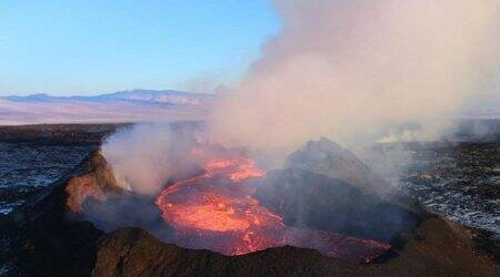 Climate change, Ring of Fire, volcanic activity, University of Leeds, volcanic eruptions, rapid ice melt, Little Ice Age, global temperature, volcanic growth, ocean surface temperatures, Icelandic glaciers, surface pressure, magma melt