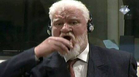 Bosnian Croat war crimes convict Slobodan Praljak dies after taking poison in UN court