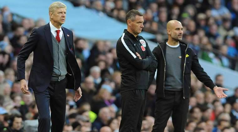 Arsenal vs Manchester City, Arsenal, Arsene Wenger, Pep Guardiola, Premier League, Football news, Indian Express