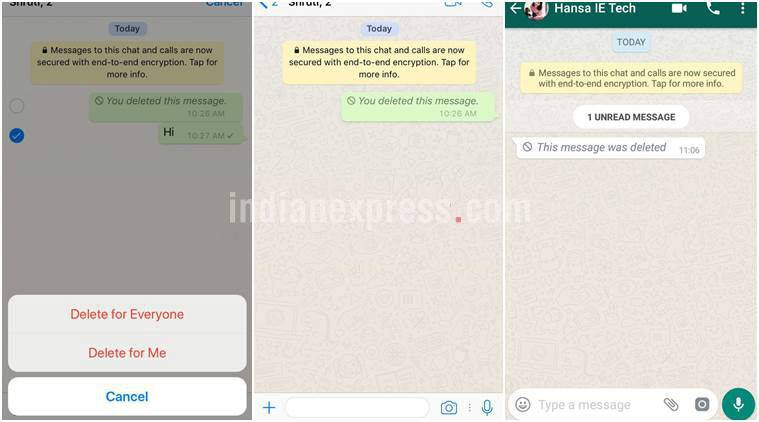 WhatsApp delete for all messages flaw