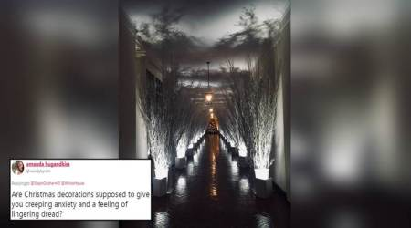 Twitterati get 'creeping anxiety' looking at the White House decked up for Christmas