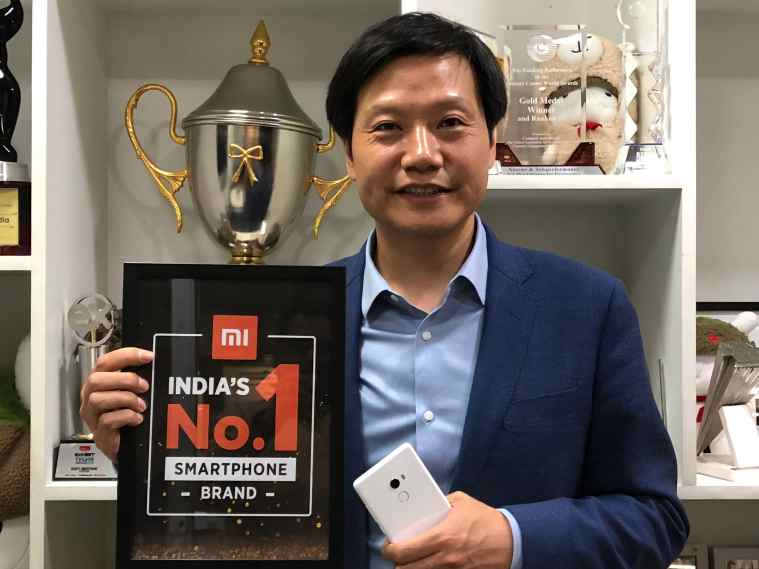 Xiaomi founder and CEO Lei Jun at his company's Bangalore office