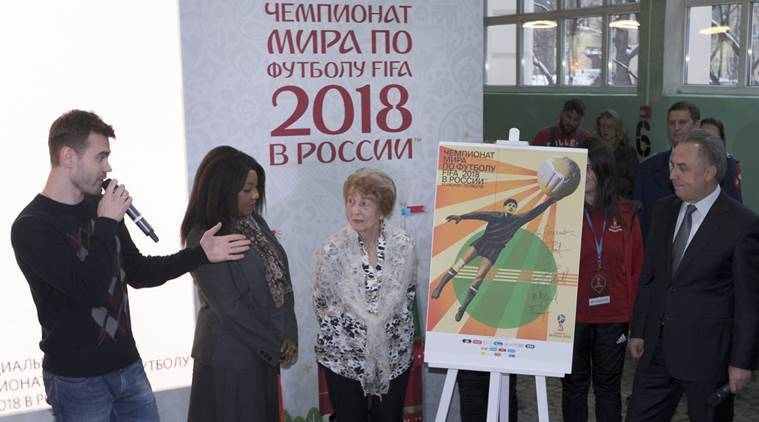 Federation Internationale de Football Association unveil the official World Cup poster for Russia 2018