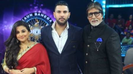 Yuvraj Singh with Vidya Balan: The epic jodi will be on Amitabh Bachchan's KBC grand finale