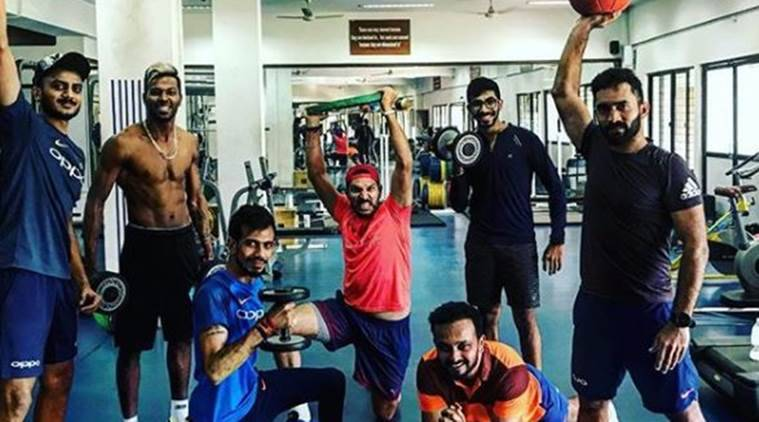 Yuvraj Singh sweats it out in gym.