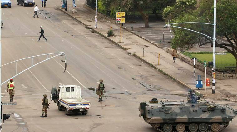 Image result for Zimbabwe crisis Live: Army says not a military takeover,