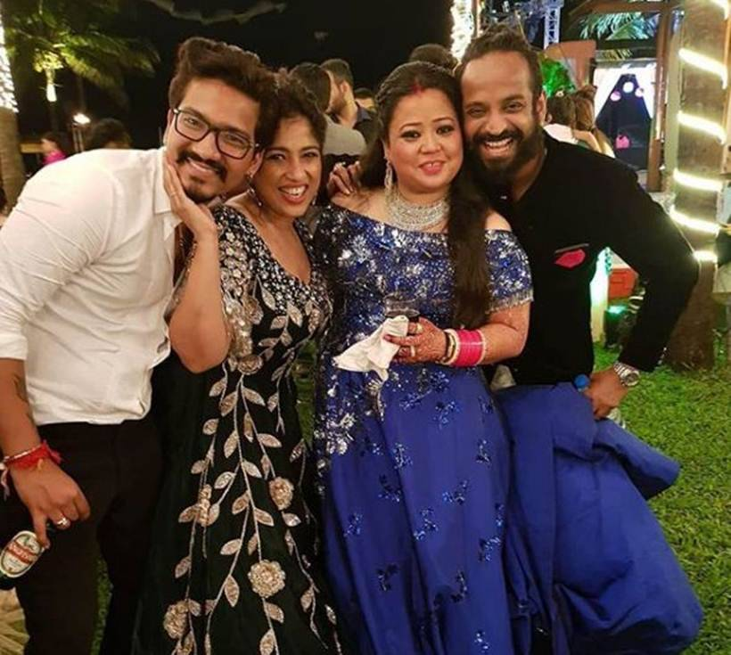 bharti singh haarsh limbachiyaa wedding reception images