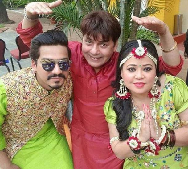 photos of bharti singh and haarsh limbachiyaa mehendi ceremony