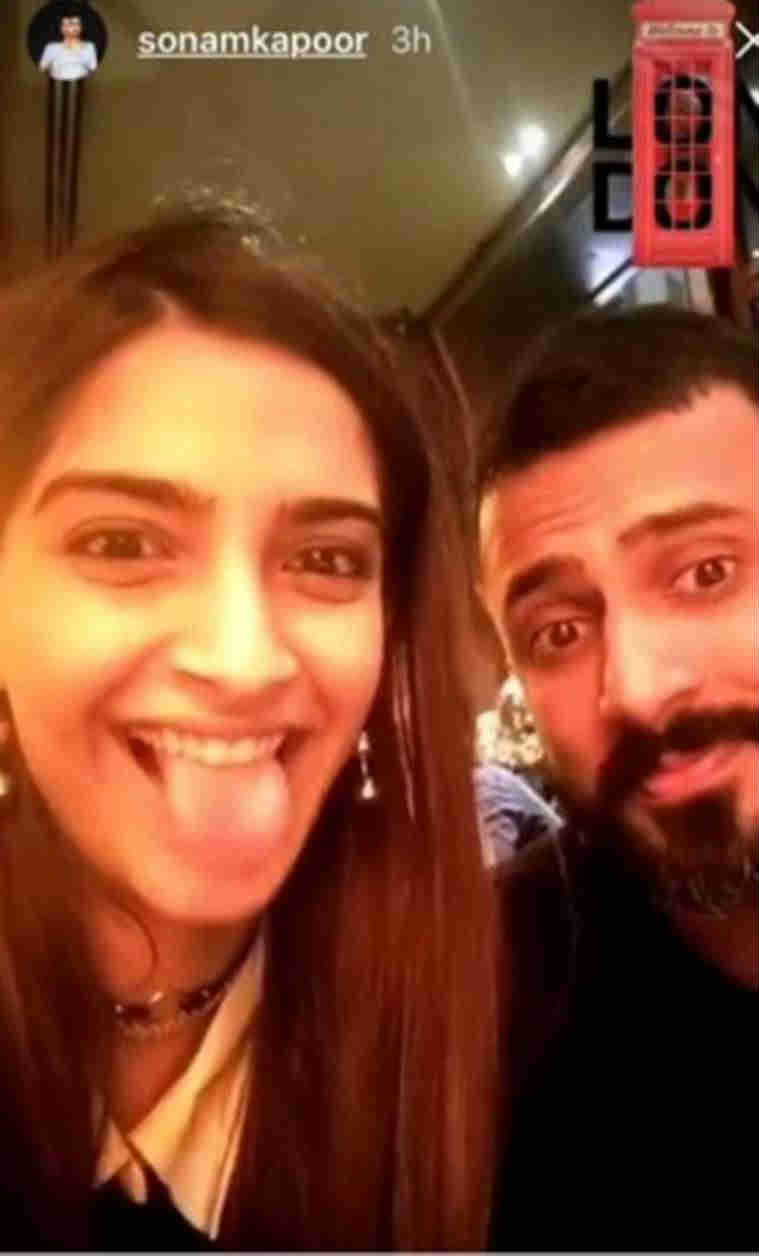 sonam kapoor photos with anand ahuja