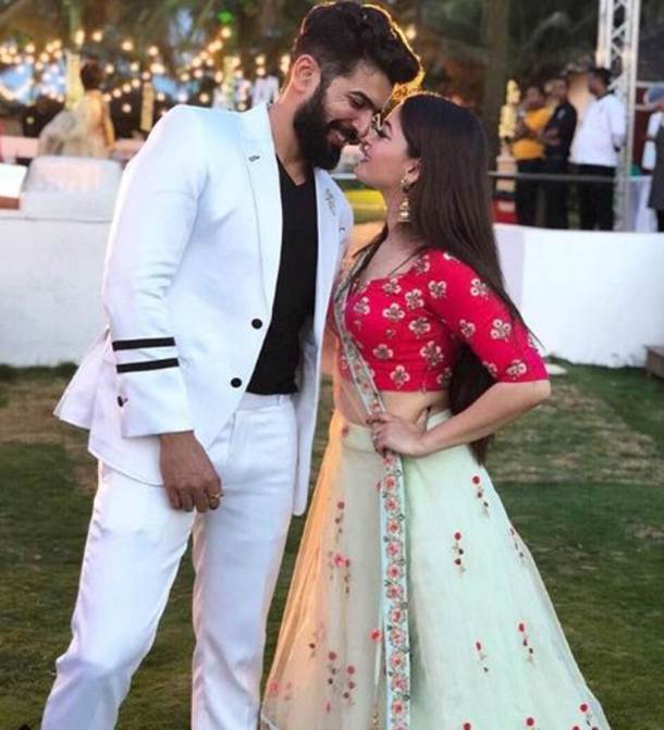 jay bhanushali and mahi vij at bharti singh wedding