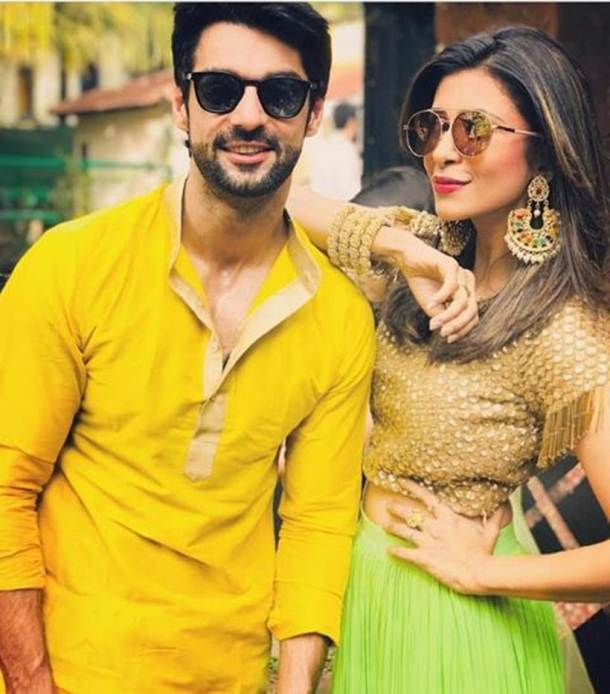 karan wahi kishwer merchant at bharti singh's wedding