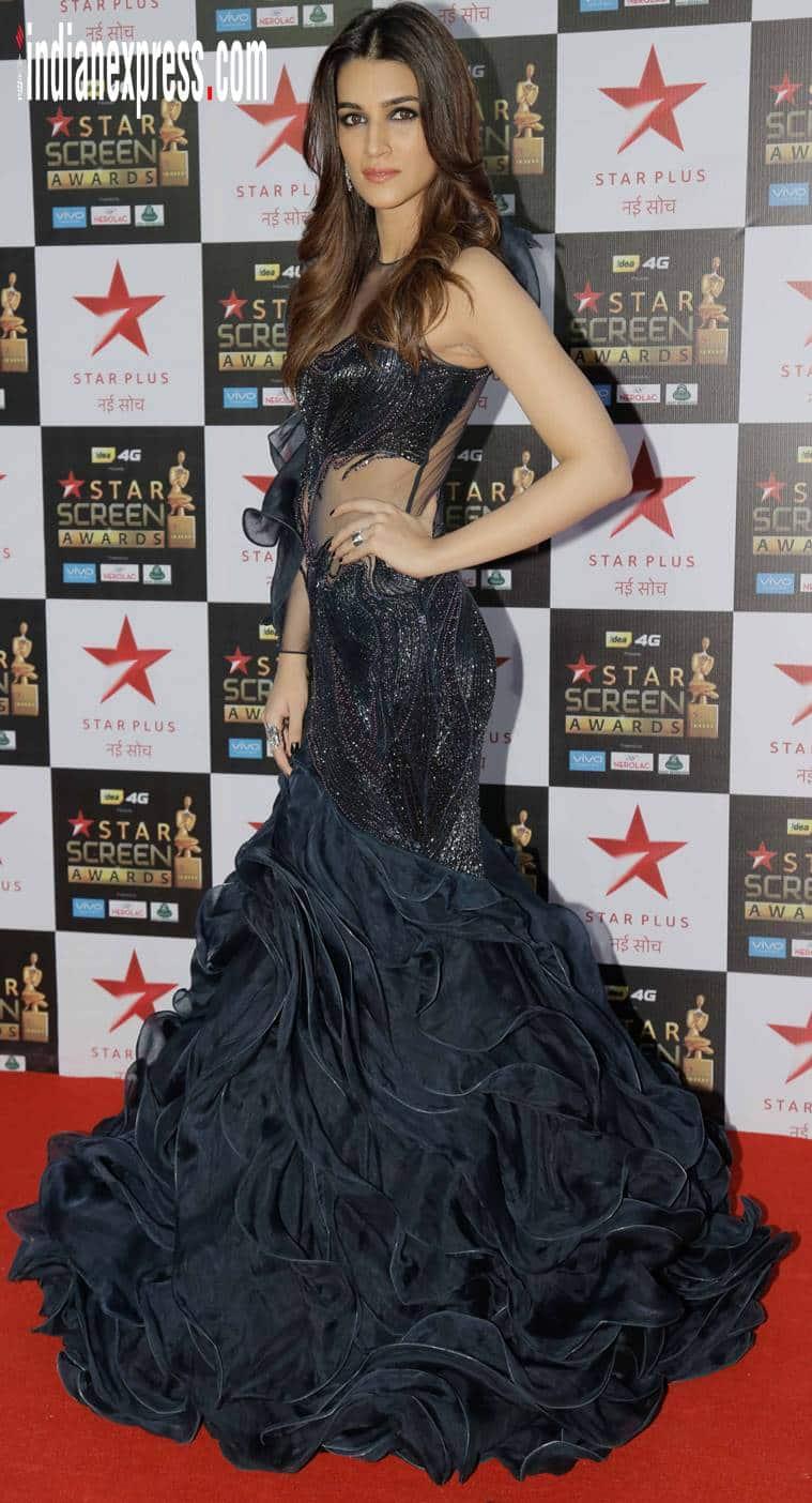 Kriti Sanon in a Gaurav Gupta gown at Star screen awards