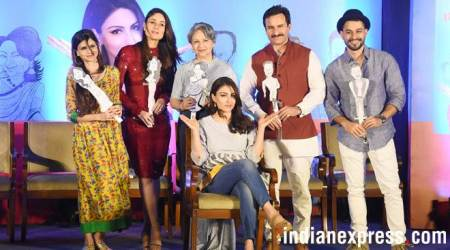 photos of saif kareena sharmila tagore at soha ali khan book launch