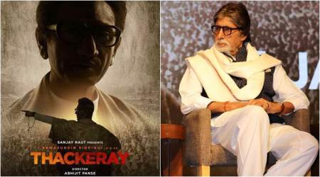amitabh bachchan at bal thackeray movie poster release